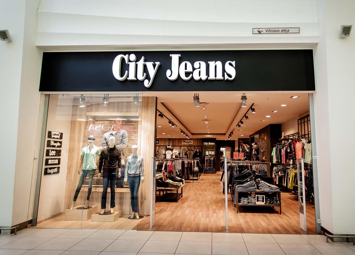 City jeans parduotuve