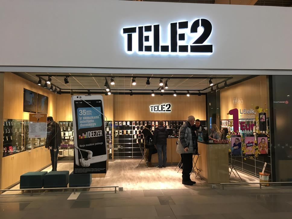Tele2 salonas megoje kaune