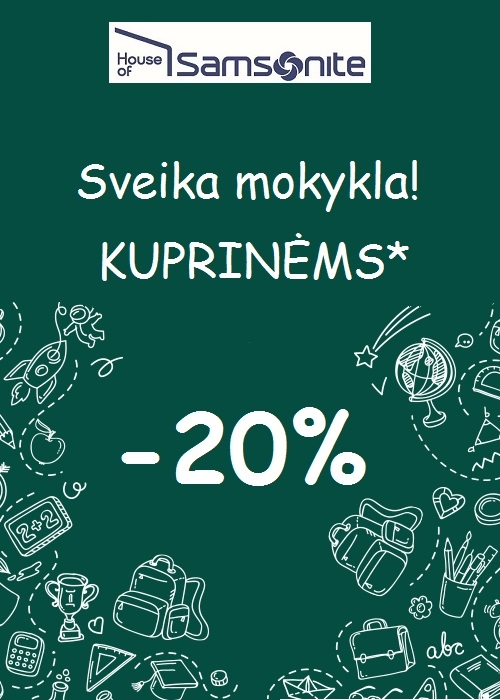 HOUSE OF SAMSONITE | Kuprinėms -20%