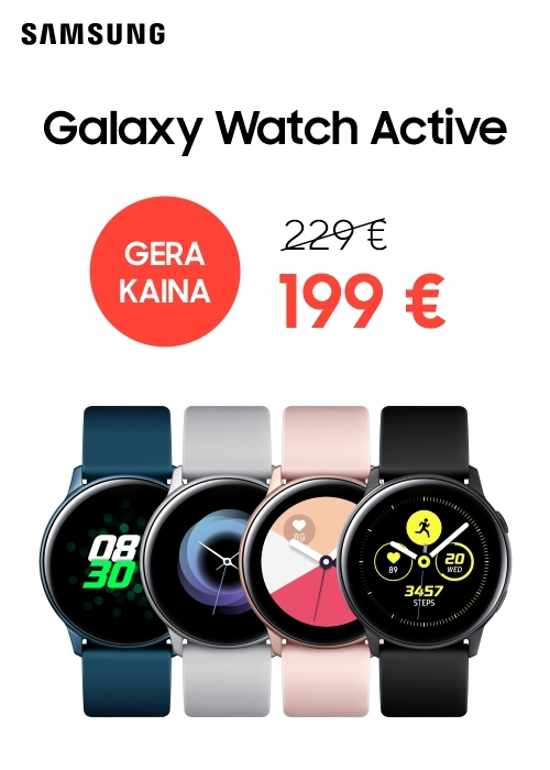 SAMSUNG | Galaxy Watch Active tik už 199 €